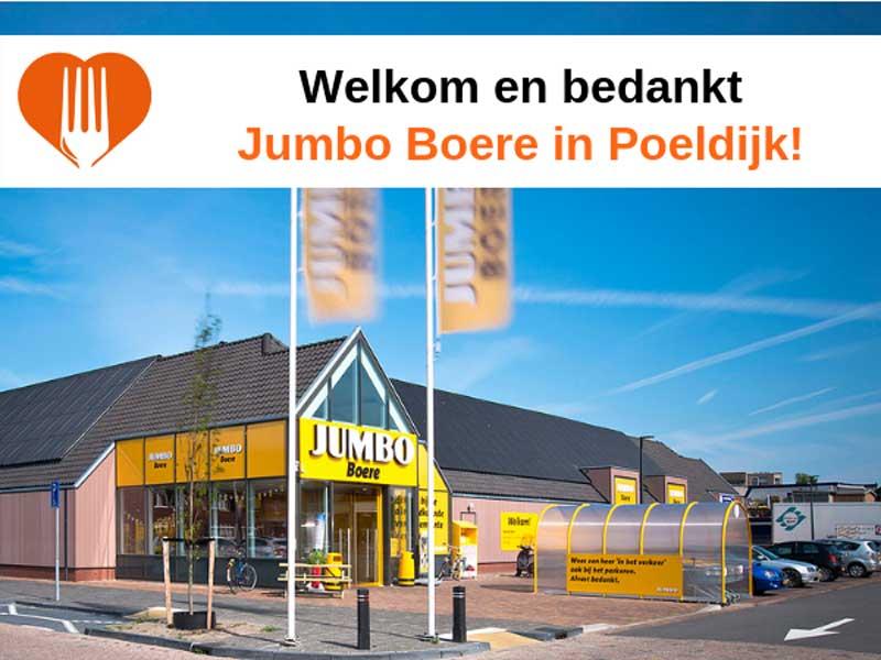 Jumbo Broere Poeldijk nieuwe partner Voedselbank Haaglanden